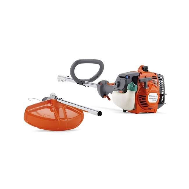 HV-TR-952711953 + HV-TOY-585729102 Husqvarna 128LD Gas Powered Lawn Trimmer & Battery Operated Toy Weed Trimmer 2