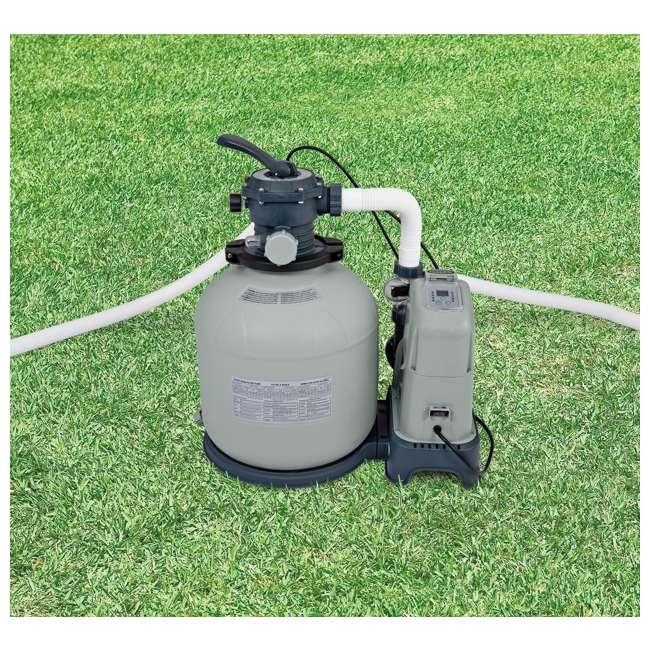 I28679 Intex Krystal Clear 2650 GPH Saltwater System & Sand Filter Pump (Brown Box) 1