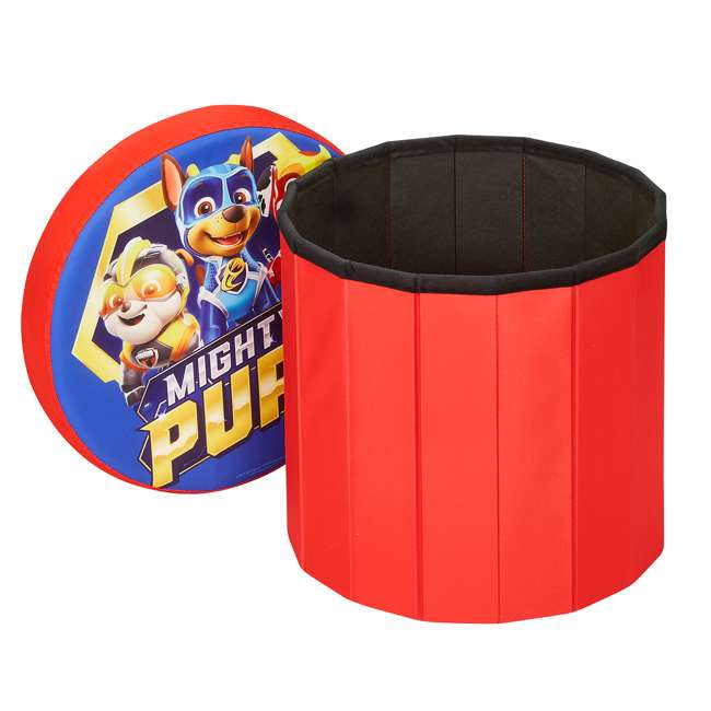 520122-005 Fresh Home Elements 15-Inch Round Portable Toy Chest and Ottoman, Paw Patrol 1