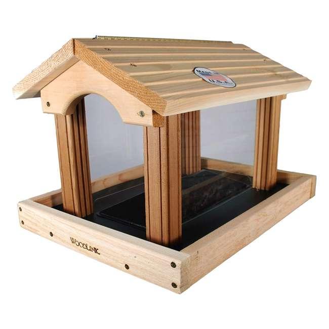 24371 Woodlink 24371 PRO4 Premier Large Capacity Ranch Style Red Cedar Wood Bird Feeder