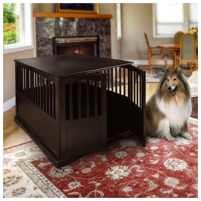 600-84 Casual Home Extra Large Pet Crate End Table, Espresso 7