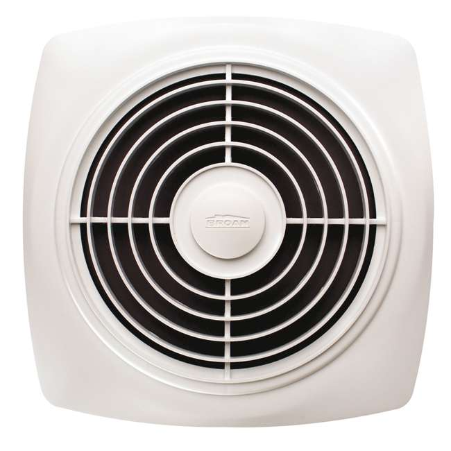 """BR-505-U-B Broan 8"""" 180 CFM Vertical Discharge Fan with White Square Plastic Grille (Used) 2"""