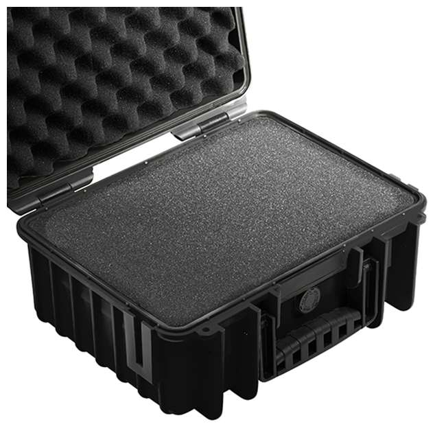 3000/B/SI + CS/3000 B&W International Plastic Outdoor Case w/ Removable SI Foam & Shoulder Strap 3