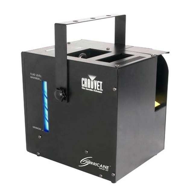 HURRICANE-HAZE2D+FJU+ MINISTROBE-LED + BLACK-24BLB CHAUVET Fog Machine w/ Mini Strobe Light Effect, Black Light & Fog Fluid 2