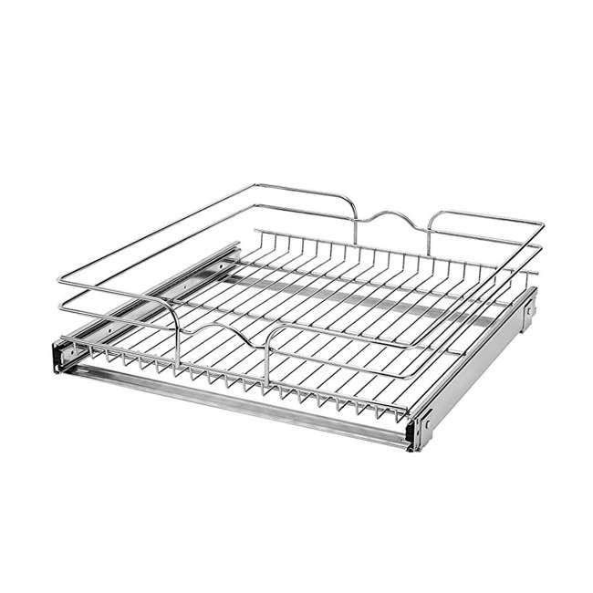 5WB1-2122-CR Rev-A-Shelf 21 Inch Wide 22 Inch Deep Base Kitchen Cabinet Pull Out Wire Basket