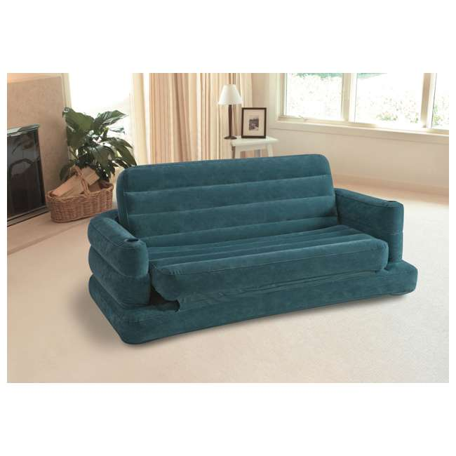 68566EP-U-B INTEX Inflatable Pull-Out Sofa & Queen Bed Mattress Sleeper (Used) (2 Pack) 9