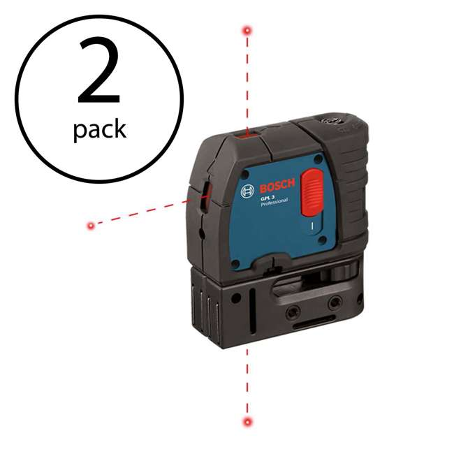 GPL3-RT-RB Bosch GPL3 3 Point Self Leveling Alignment Level (2 Pk) (Certified Refurbished)