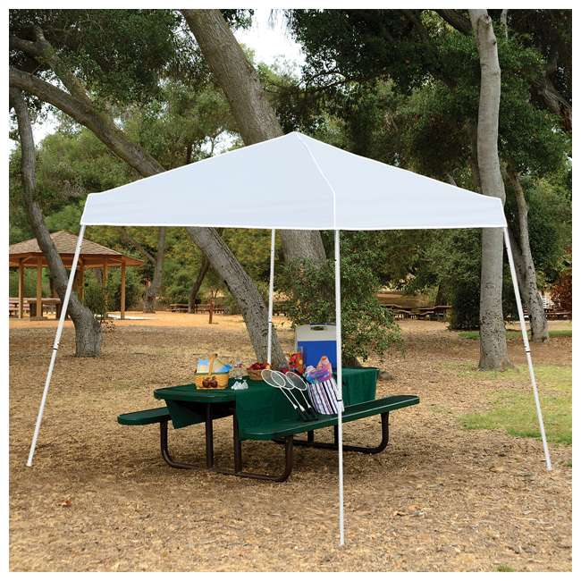 ZSB10INSTWH-U-A Z-Shade 10' x 10' Angled Leg Instant Shade Canopy Tent Shelter (Open Box)(2 Pack) 1