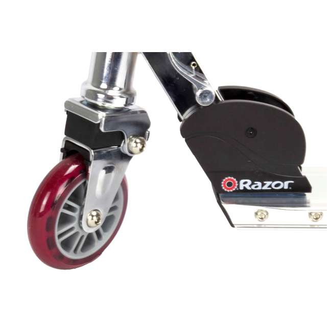 13003A2-RD Razor A2 Kids Folding Aluminum Portable Kick Push Wheeled Scooter, Red (2 Pack) 5