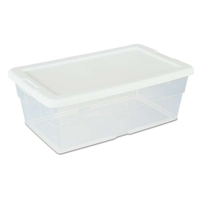 18 x 16428012-U-A 12) Sterilite 16428012 6 Quart Storage Tote Shoe Box Containers -Open Box (Pair) (18 Pack)
