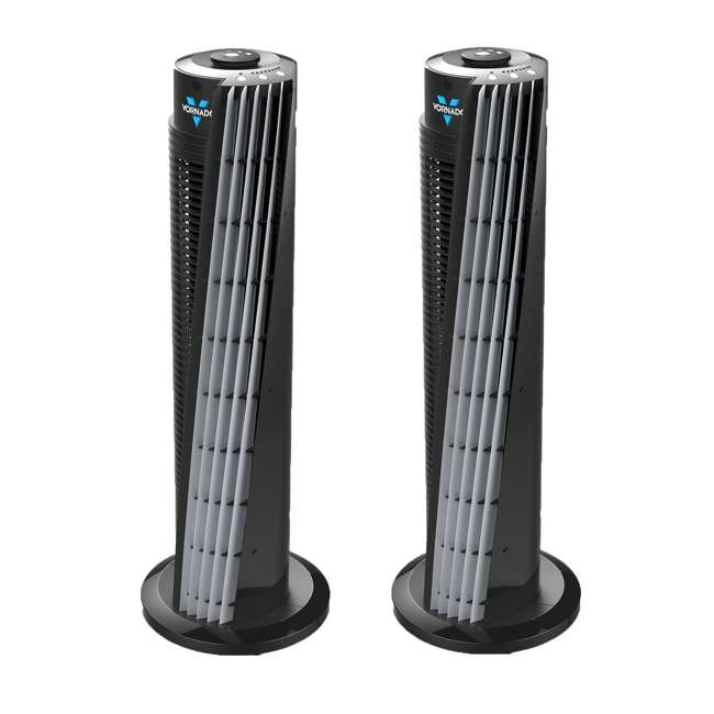 VOR-154 Vornado 32-Inch Electric Tower Circulator, Black (2 Pack)