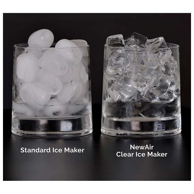 CLEARICE40 NewAir Counter-Top Clear Ice Maker Machine, Stainless Steel 6