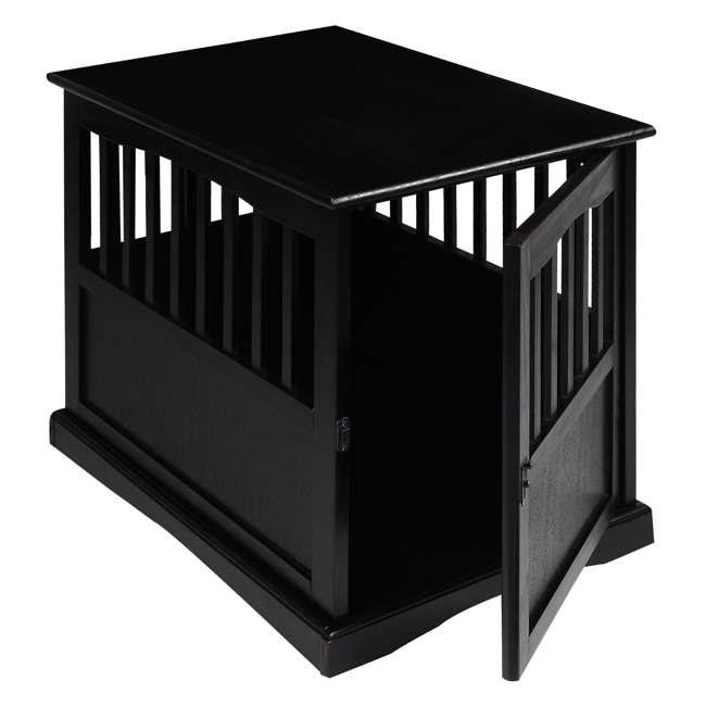 600-42 Casual Home Medium Pet Crate End Table, Black 5