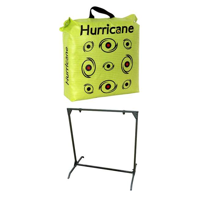 H60450 Hurricane H-20 Deer Archery Target w/ HME Bowhunting 30 Inch Bag Target Stand