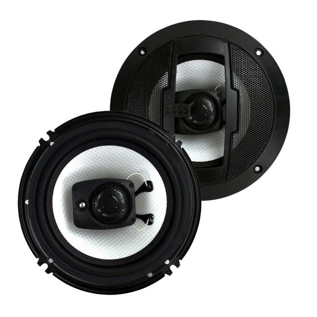 R63 Boss 6.5-Inch 300W 3 Way Coaxial Speakers (Pair)