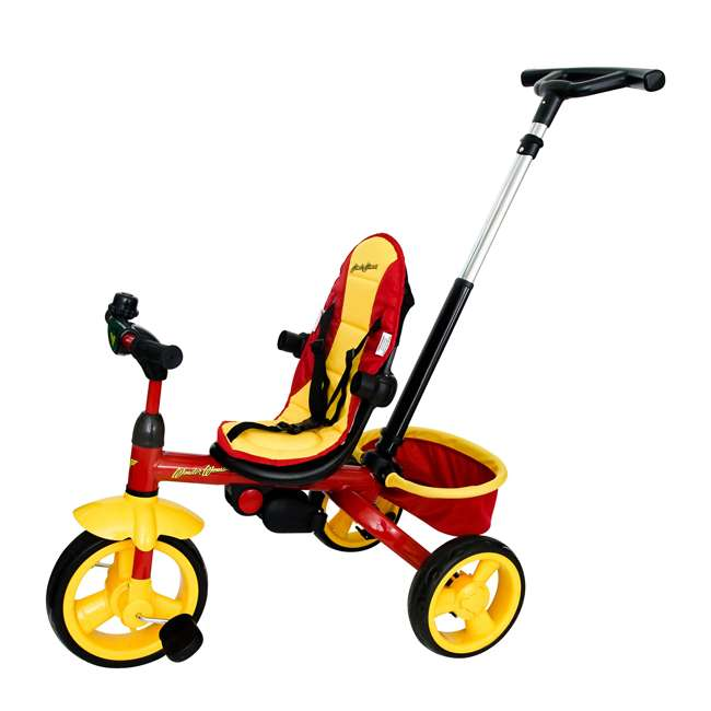 7501WWM Kids Embrace Wonder Woman 4-in-1 Push and Pedal Toddler Trike and Stroller, Red 2