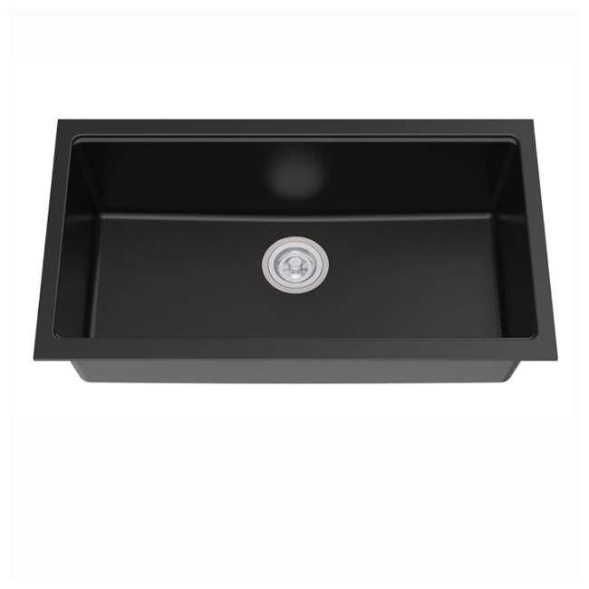 KGU-413B Kraus 31-Inch Rectangle Undermount Black Onyx Kitchen Sink (2 Pack) 2