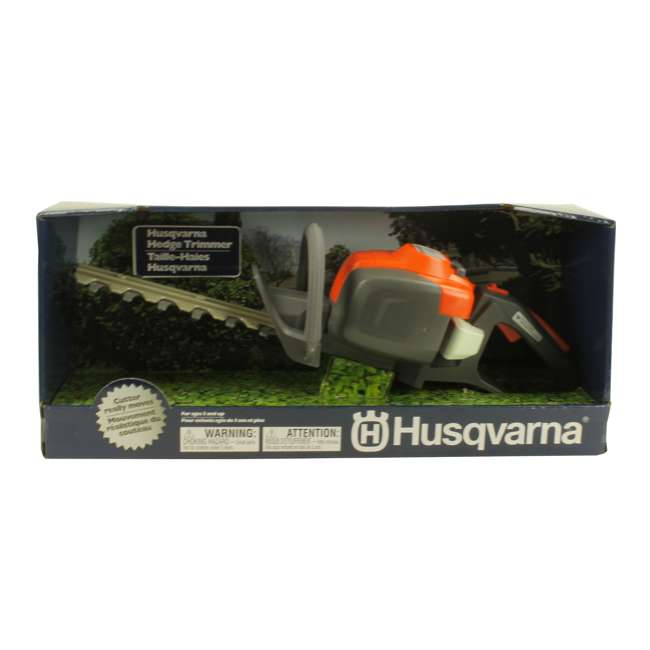 HV-TOY-522771104 + 2 x HV-TOY-589746401 + 2 x HV-T Husqvarna Chainsaw, Leaf Blower, Hedge Trimmer & Lawn Trimmer Toys 2-Packs Each 10