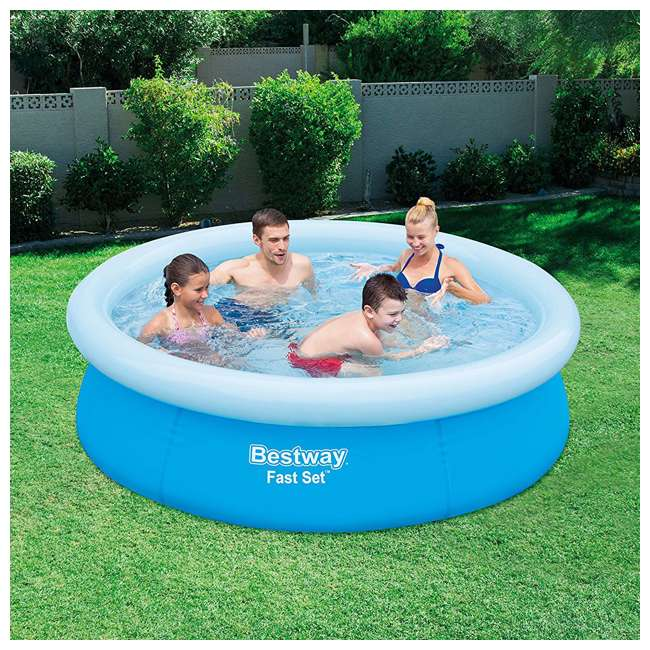 "3 x 57252E-BW-U-A Bestway 6'x20"" Round Inflatable Above Ground Kids Pool, Blue (Open Box) (3 Pack) 2"