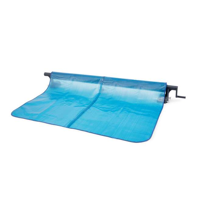 28051E-U-A Intex  Heavy Duty Aluminum Base Solar Pool Cover Reel, Black (Open Box) (2 Pack) 2