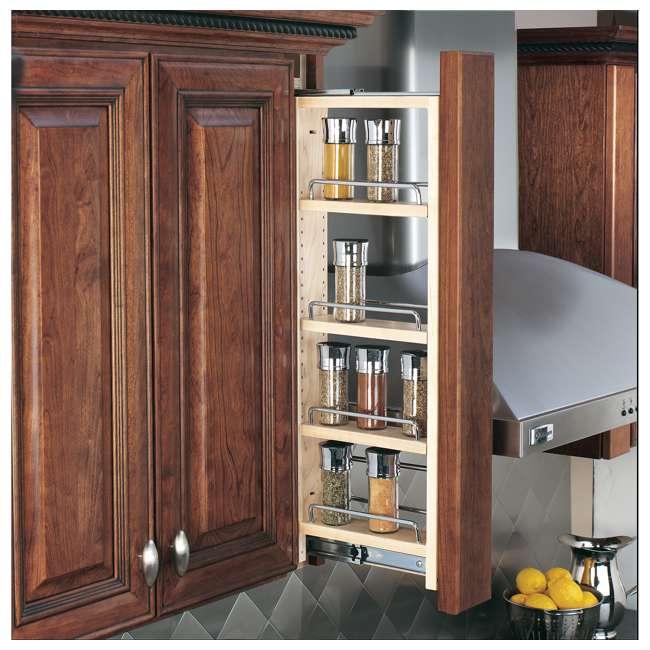432-WF-3C Rev-A-Shelf 432-WF-3C 3 x 30 Inch Pull Out Between Cabinet Wall Filler Organizer 1