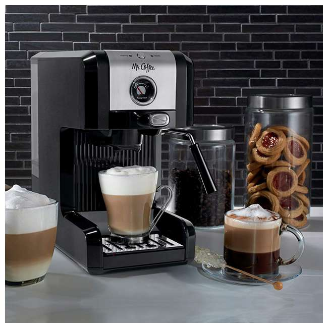 BVMCECMPT1000 Mr. Coffee Easy Maker Authentic Espresso Machine w/ Auto Tamp Technology, Black 5