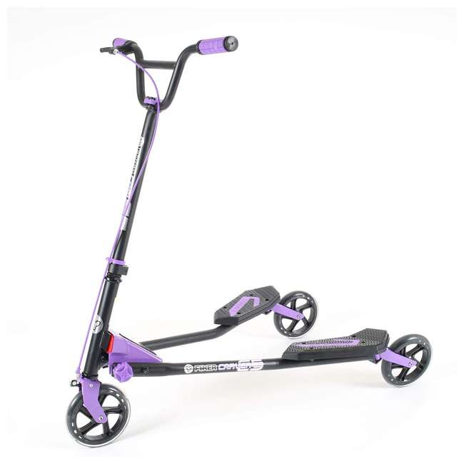 100607 Yvolution Y Fliker Carver C5 Kids/Adult Foldable Wiggle Drifting Scooter, Purple 1