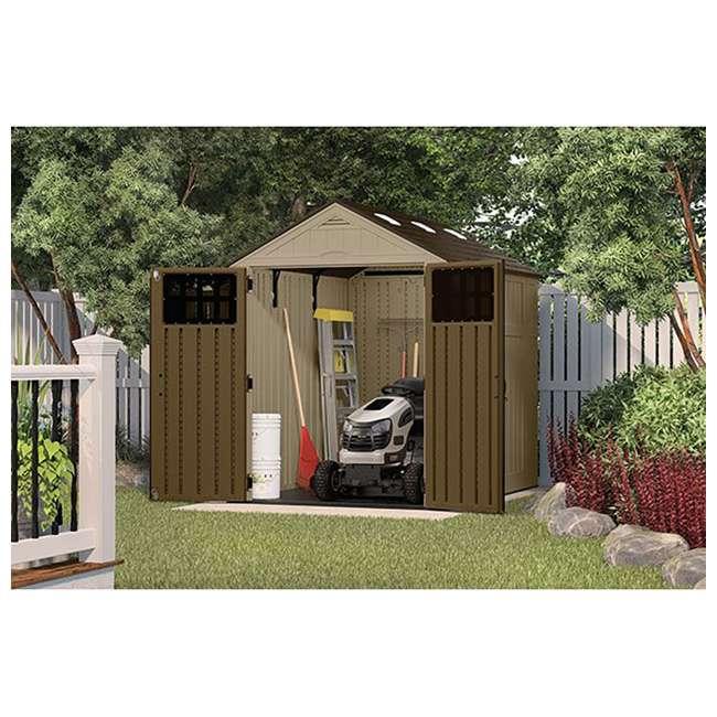 BMS6810D Suncast Everett 6 x 8-Foot Resin Outdoor Garden Tool Storage Shed 1