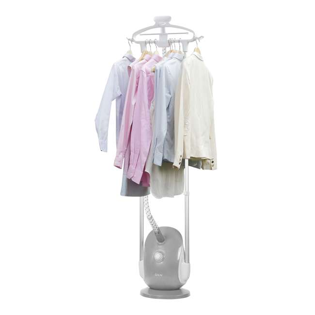 GS68-BJ-GRAY-U-C Salav Professional 4 Setting Dual Wide Bar Clothes Garment Steamer (For Parts) 2