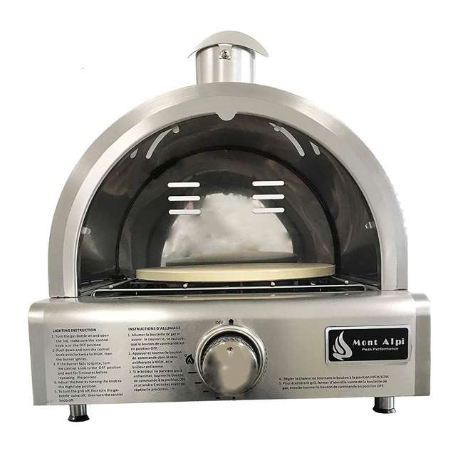 MAPZ Mont Alpi MAPZ Table Top Gas Stainless Steel Large Portable Pizza Oven Cooker 2