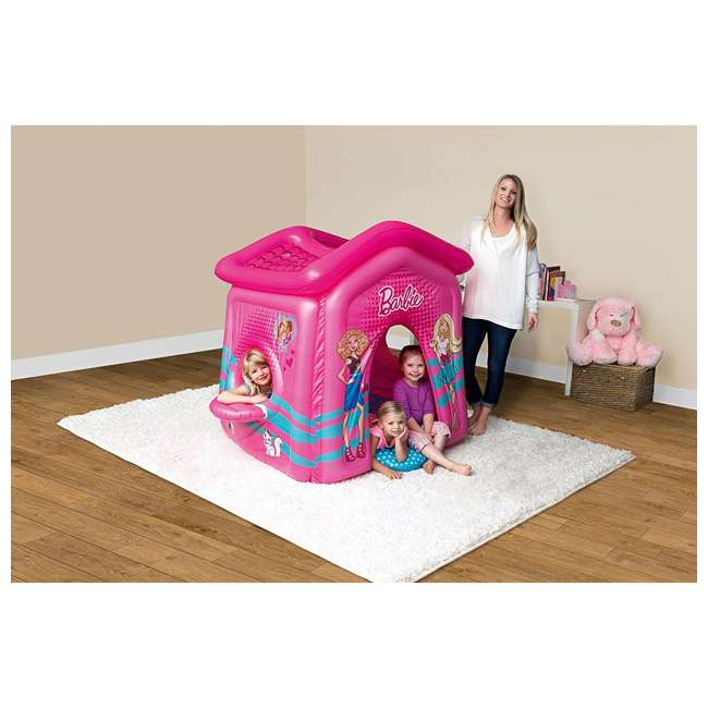 93208E-BW Bestway Indoor Toddler Kid Inflatable Barbie Malibu Playhouse 3