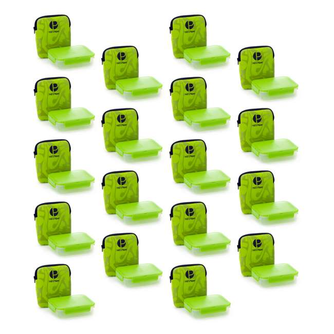 18 x W3004 Life Story Sandwich Pack with Insulated Case, Green (18 Pack)