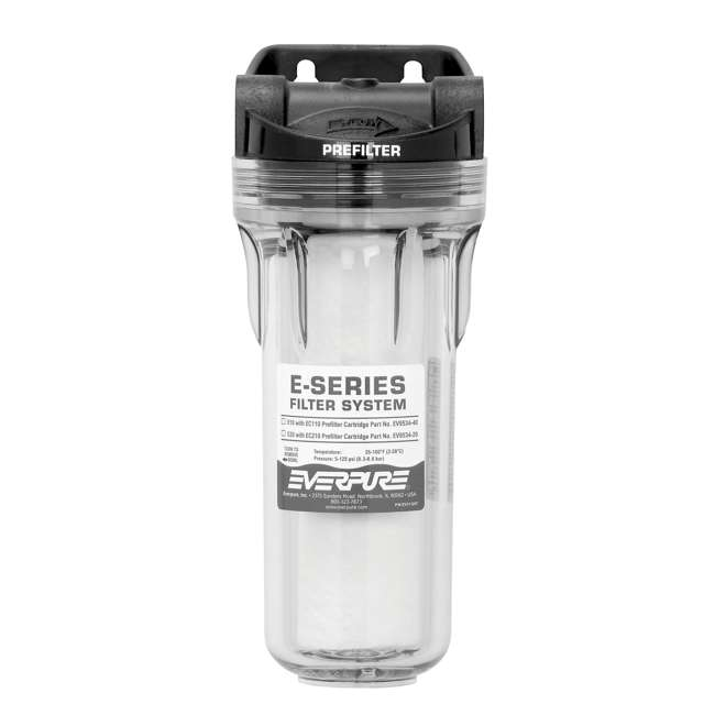 "EV979580-U-A Everpure E Series E-10 10"" Bowl Coarse Water Prefilter System (Open Box)"