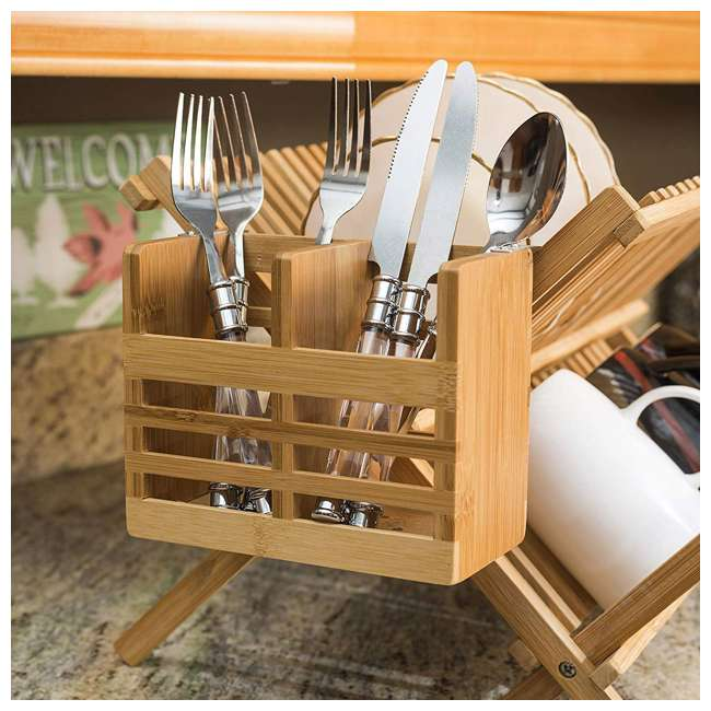 DD01018 + DR01036 + CH44543 Home Basics Dish Drainer & Drying Rack & Cooking Utensil Holder 8