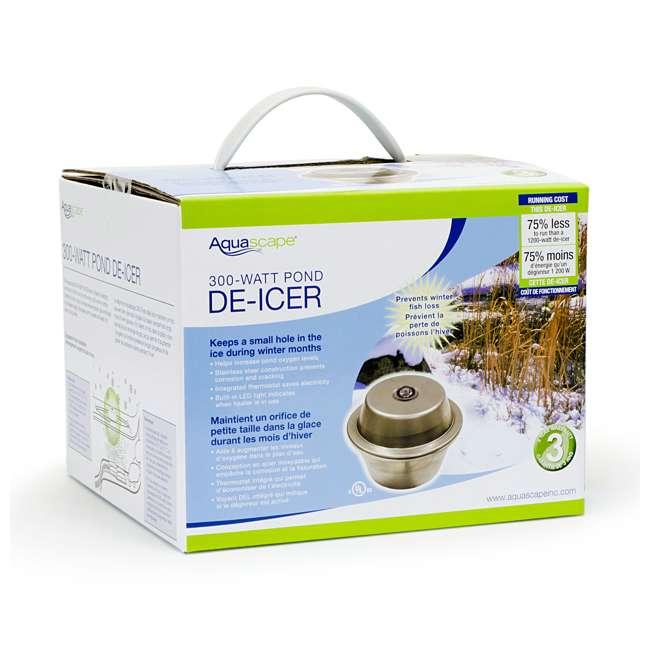 AQS-39000-U-C Aquascape 300 Watt Stainless Steel Pond Heater & Deicer Water Garden (For Parts) 3