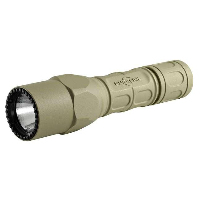 G2X-D-TN SureFire Pro Lightweight High Performance Dual Output LED Flashlight, Desert Tan