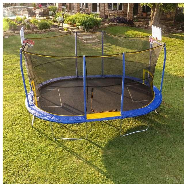 JK1015OVBHSG JumpKing JK1015OVBHSG 10 x 15 Foot Trampoline with Enclosure & Basketball Hoops 2