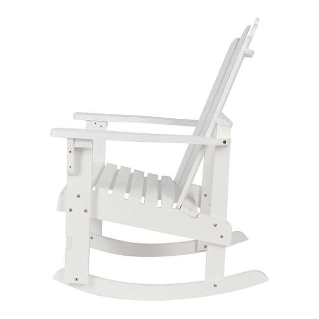 4698WT Shine Company Weather Resistant Cedar Wood Marina Porch Rocking Chair, White 1