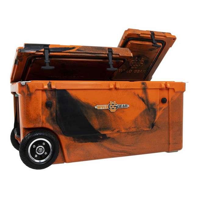 HC75-17OB WYLD 75 Quart Pioneer Dual Compartment Insulated Cooler w/ Wheels, Orange/Black