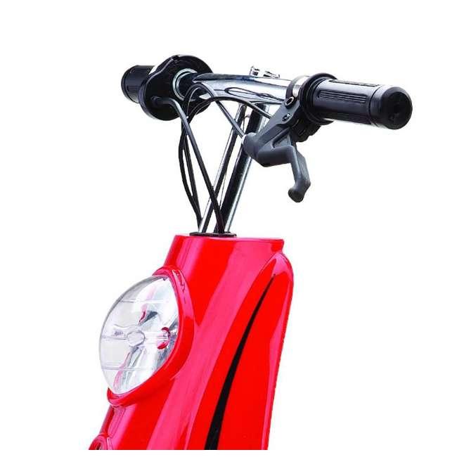 15130656 + 15130601 + 2 x 97778 Razor Pocket Mod Miniature Electric Scooters, 1 Red & 1 Black + Helmets 7
