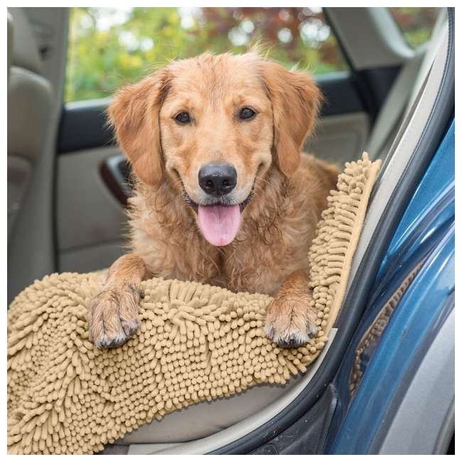 80551613 Furhaven 80551613 Jumbo Absorbent Runner Muddy Paws Towel and Shammy Rug, Sand 1