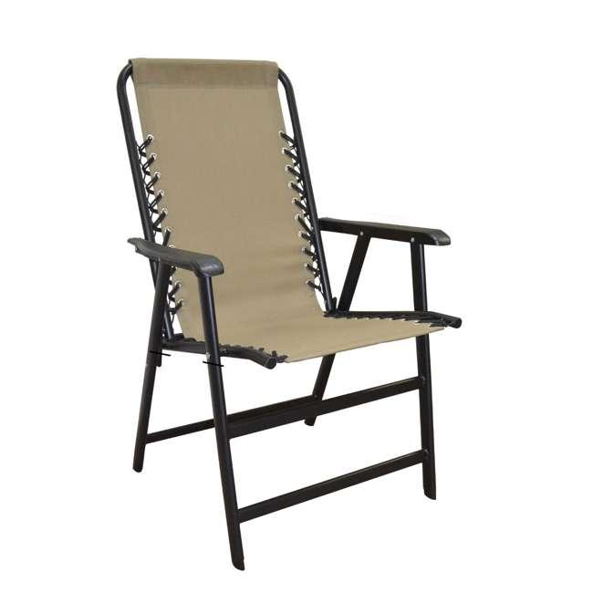 CVAN80012000152-2PK Caravan Canopy Infinity Suspension Folding Chair, Beige (2 Pack) 1