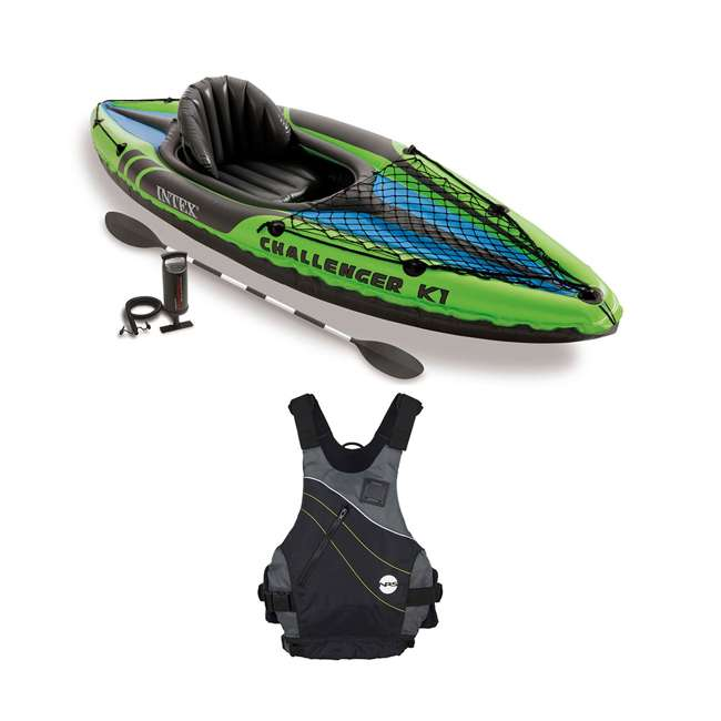 68305EP + NRS_40034_01_102 Intex Kayak Set & NRS Vapor Adult Small/Medium PFD Life Jacket
