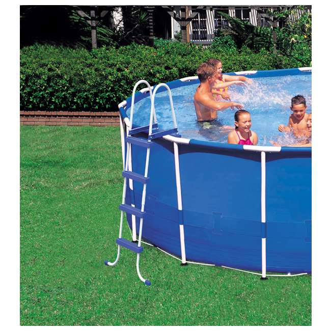 "28253EH-U-A Intex 18'x48"" Above Ground Pool Set w/ Pump Ladder Cover (Open Box) (2 Pack) 2"