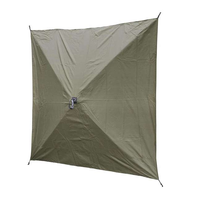 CLAM-ES-9281 + CLAM-WP-2PK-9896 Clam Quick Set Canopy Shelter + Wind & Sun Panels (2 pack) 8