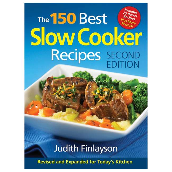 33967 + SLOWCOOK150 Hamilton Beach Set n' Forget 6 Qt Programmable Slow Cooker & 150 Recipe Cookbook 7