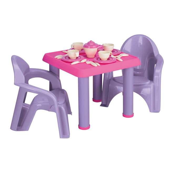 APT-13620-U-A American Plastic Toys 28 Piece Pretend Play Tea Party Set Purple/Pink (Open Box)