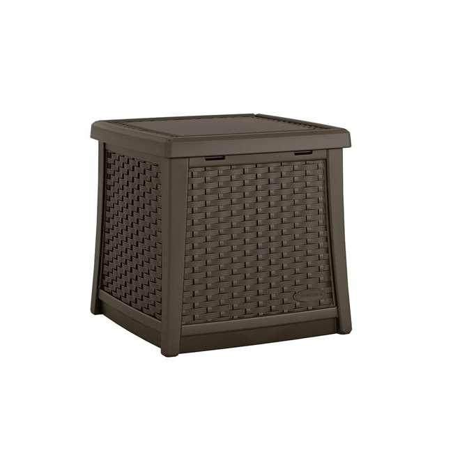 BMDB1310-U-A Suncast Elements 13-Gallon Patio End Table with Storage, Java (Open Box)