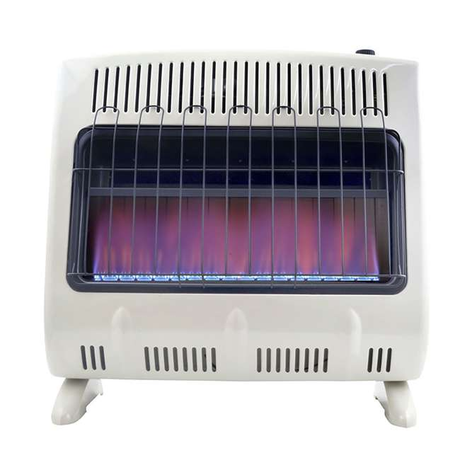 MH-F299731 Mr Heater 30000 BTU Blue Flame Natural Gas Indoor Heater (Open Box) (2 Pack)