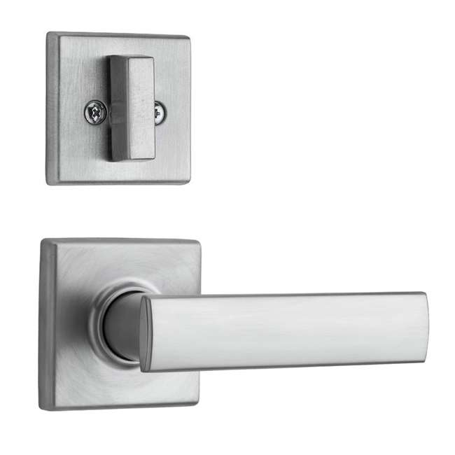99740-003 Kwikset Vedani Hall Closet Passage Locking Door Handle Lever, Chrome
